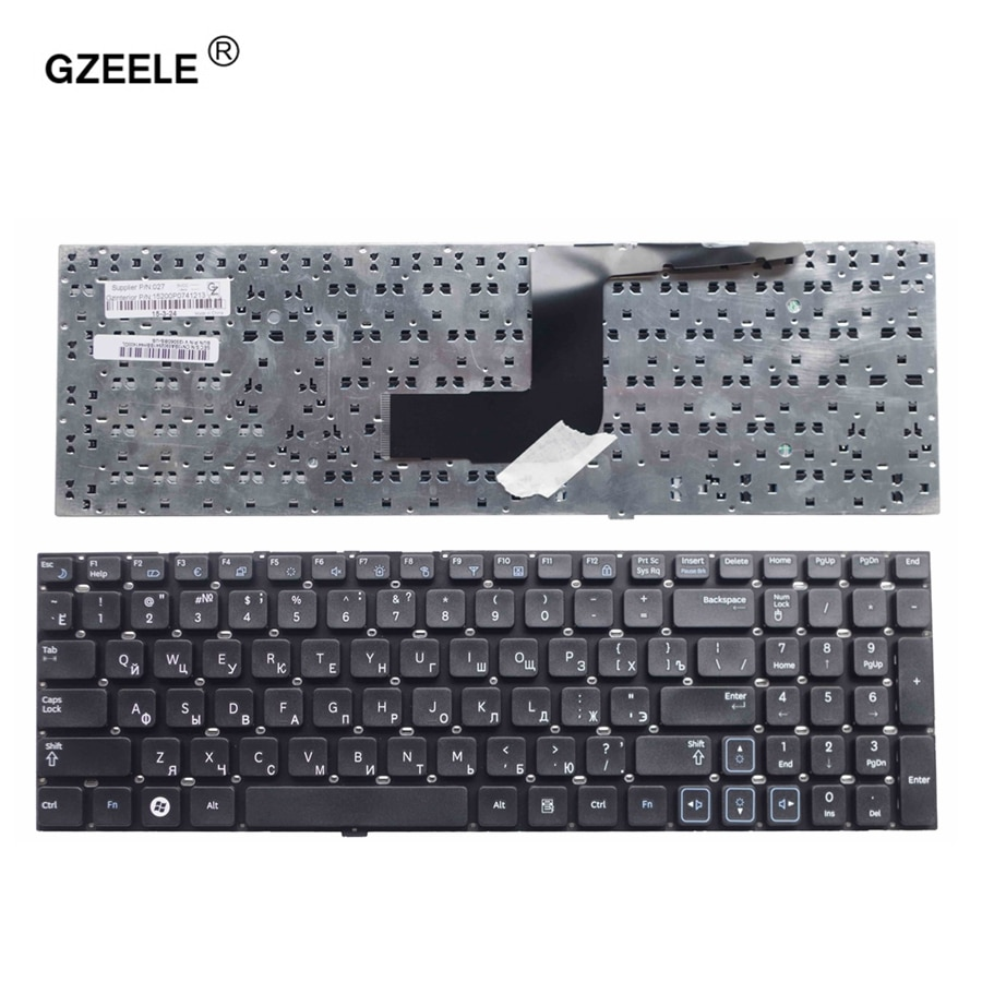 Русская клавиатура GZEELE для Samsung RC530 RV509 NP-RV511 RV513 RV515 RV518 RV520 NP-RV520 RC520 RC512 RU Клавиатура для ноутбука черного цвета