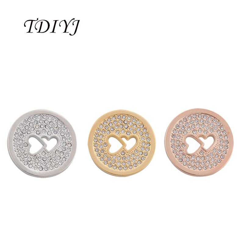 TDIYJ 6 uds Venta caliente 25mm corazón doble disco Moneda de cristal de 25mm mi moneda titular marco colgante collar como joyería de las mujeres regalos