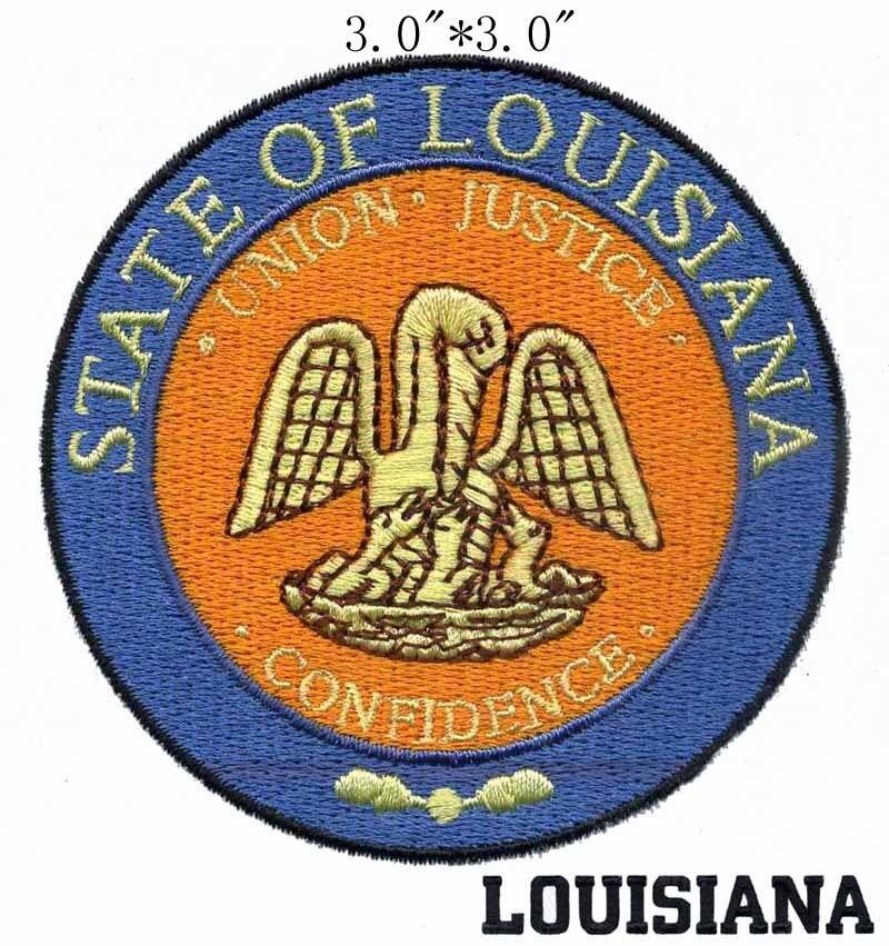 """Selo do Estado de Louisiana 3 """"wide grátis/três gotas de sangue/anel externo/Justiça e Confiança"""