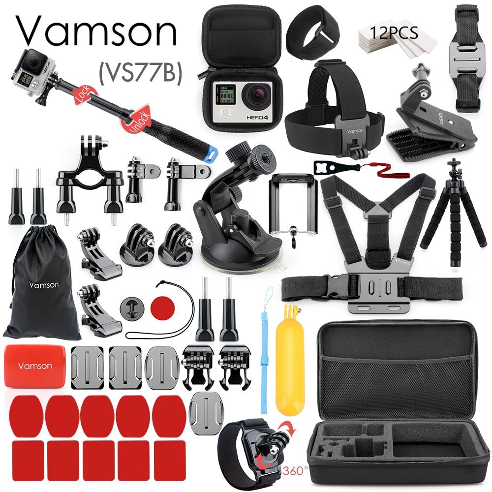Vamson para Gopro accesorios para ir pro hero 8 7 6 5 4 kit 3 selfie palo para Eken h8r/xiaomi para yi caso de EVA VS77