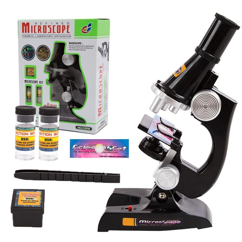 Juego de microscopio de plástico para niños, juguete para Ciencia Tecnológica, experimento, exploración, juguete educativo de aprendizaje, juego de simulación, juguete para regalo