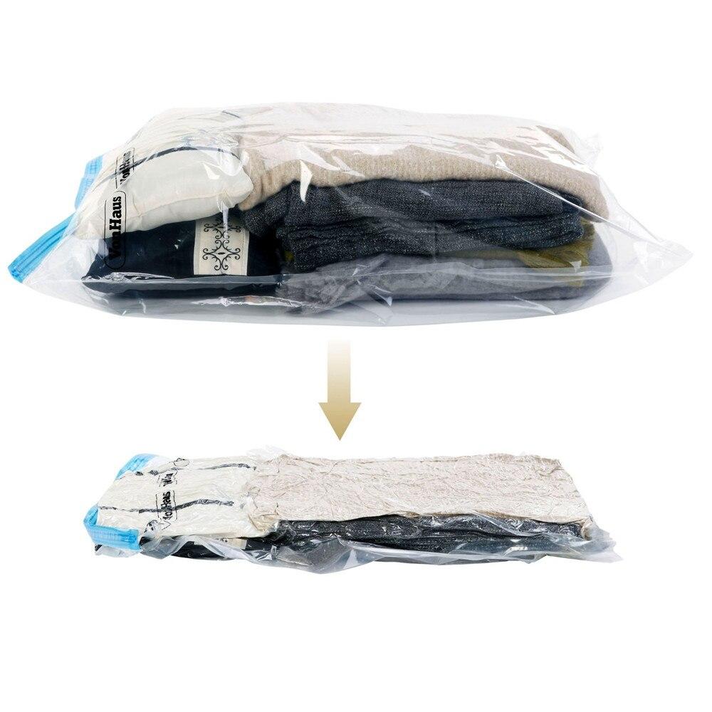 5 unids/lote uso sin bomba de aire 37*53 nuevo diseño ahorro de espacio viaje comprimir rollo para envasado al vacío bolsa de almacenamiento