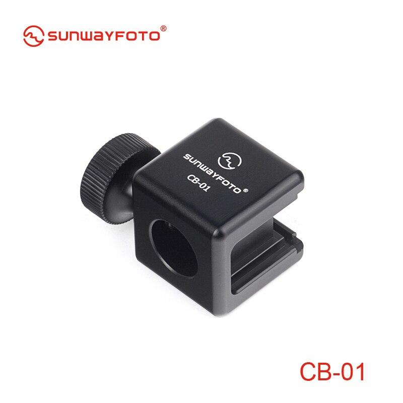 SUNWAYFOTO CB-01 Camera Flash Hot Shoe Mount Adapter 1/4 Screw Adapter Seat Block to Flash Hotshoe Bracket Holder for Camera