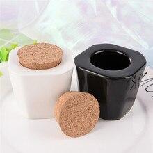 Blanc/noir couleur porcelaine matériel Nail Art acrylique verre Dappen plat liquide poudre conteneur