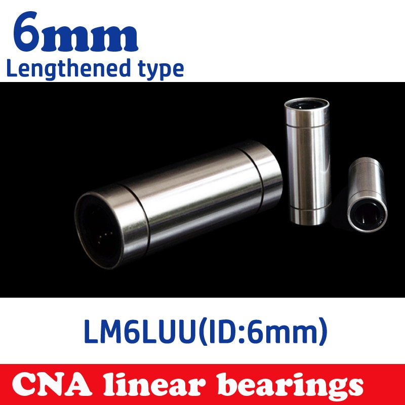 10pcs LM6LUU 6mm Longer Linear Ball Bearing Linear Bearings CNC parts 3d printer parts Woodworking Machinery Parts