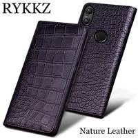 rykkzluxury genuine leather cases for huawei honor note 10 case handmade custom flip phone cover for huawei honor note10 bag