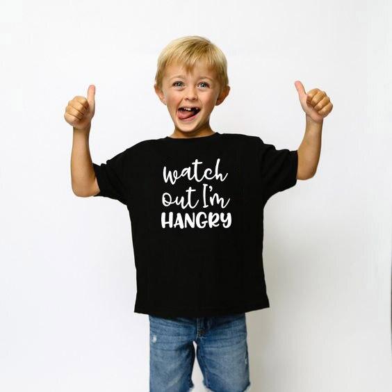 Camisetas de manga corta de verano, camiseta informal para niños, camiseta para niños pequeños con cuidado, ropa de calle para bebés