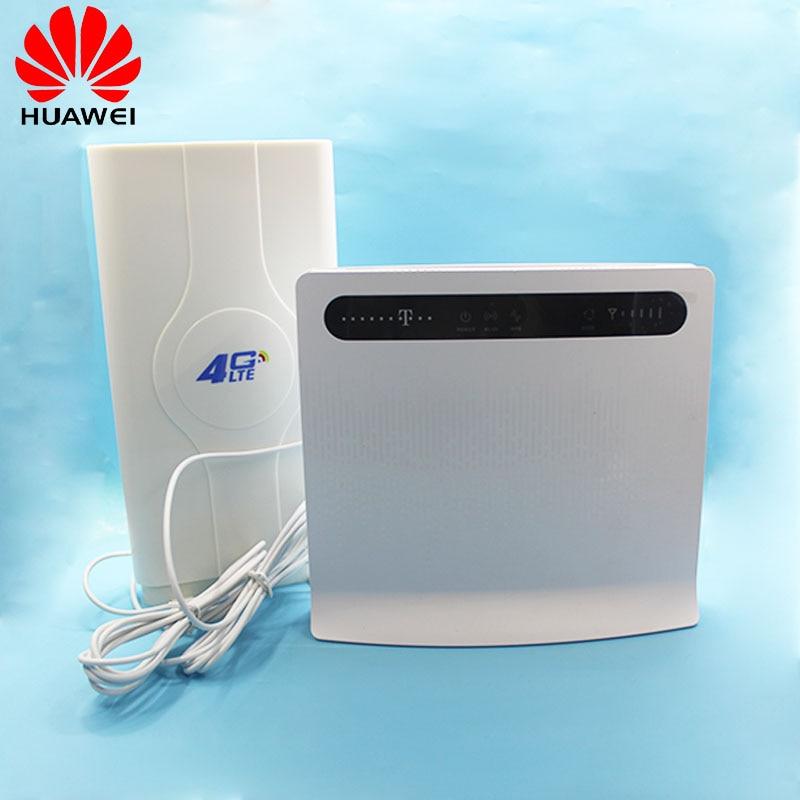 Unlocked New HUAWEI B593 B593u-12 B593s-12 4G WIFI Router 4G 100Mbps LTE CPE Wireless Gateway Huawei With Antenna