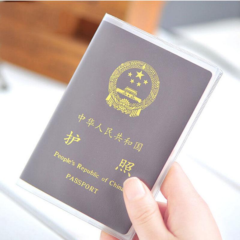 Las mujeres/hombres transparente cubierta del pasaporte impermeable pasaporte bolsas protector del pasaporte manga, titular de la tarjeta ID 2 Estilo