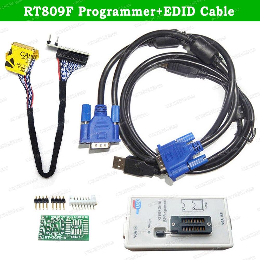 Newest RT809F ISP EPROM Universal Programmer Tool  + EDID Cable EMMC-Nand FLASH Programmer Similar RT809F USB Programmer