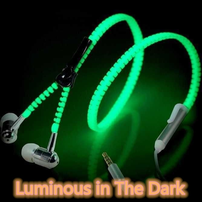 Novo fone de ouvido luminoso brilho no escuro luminoso fone de ouvido de metal fones de ouvido com microfone fone de ouvido com fio para iphone oppo