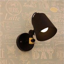 Nordic Wall Light Log Study Wall Lamp Modern Simple Bedroom Lamp Creative Living Room Light Veranda Iron Art Lamps