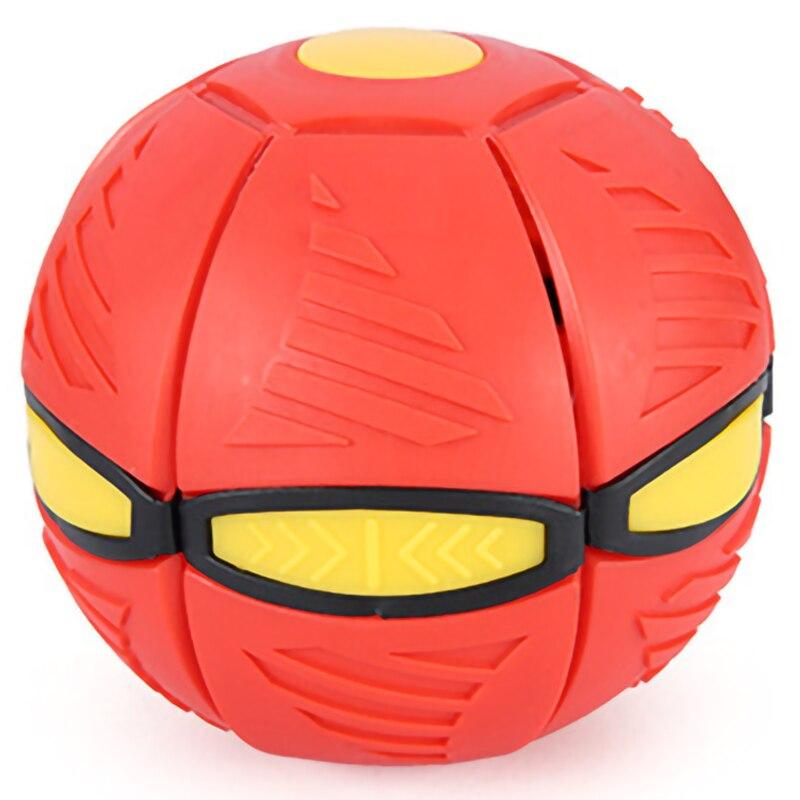 Pelota de deformación plana, platillo volador, juguete en forma de pelota que rebota al aire libre, pelota que rebota, juguete al aire libre