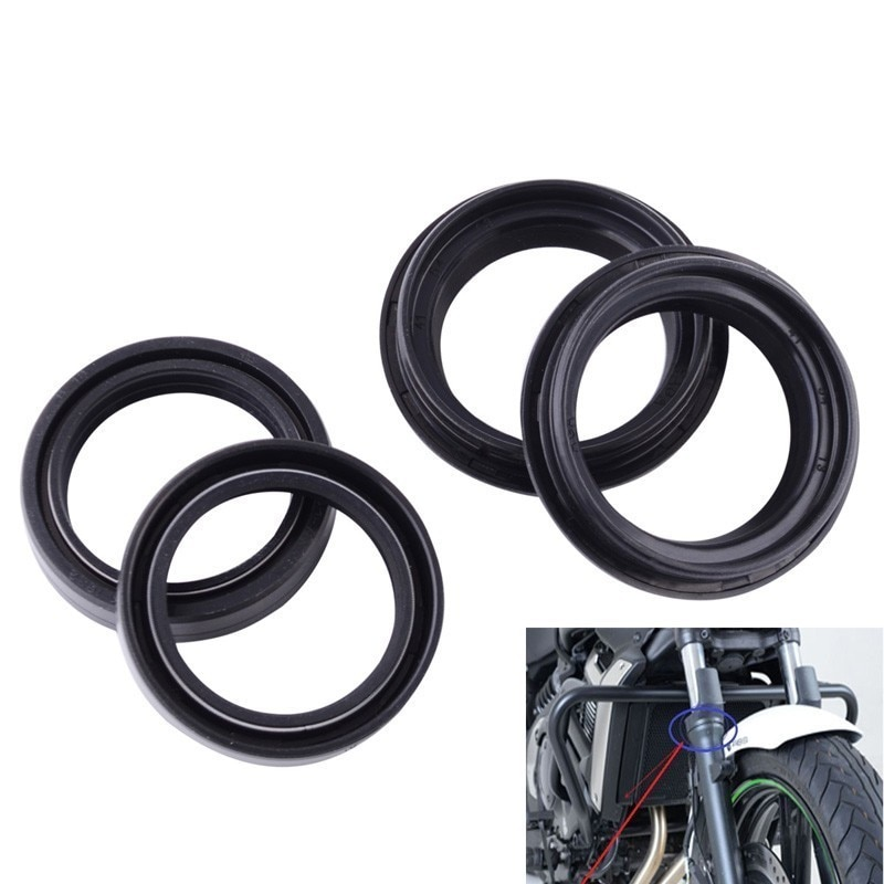 fork oil seal 41x54x11mm Motorcycle Front Fork Damper Oil Seal and Dust Seal Rubber Gear Shaft Seal For Honda Yamaha Kawasaki Suzuki