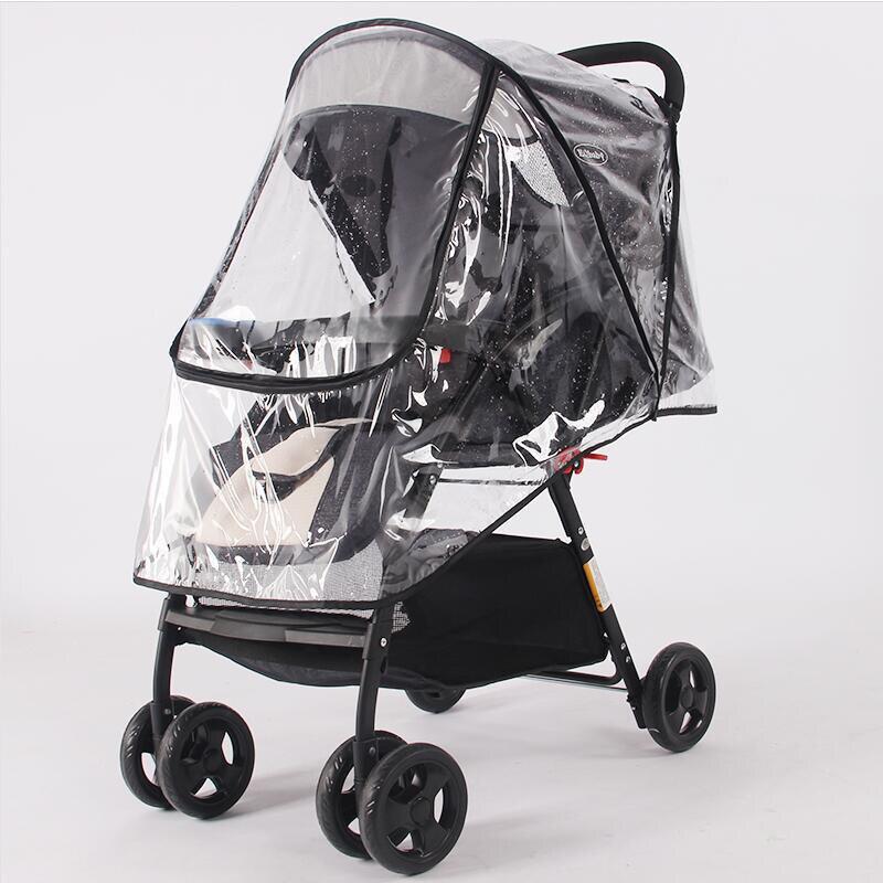 Аксессуары для колясок, водонепроницаемый непромокаемый чехол, прозрачный пылезащитный чехол на молнии для детских колясок, колясок, плащей