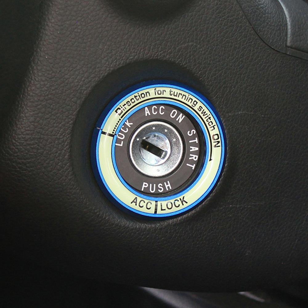Светящаяся наклейка на зажигание наклейка на кольцо для ключей для Nissan Teana X-Trail Livina Sylphy Tiida Sunny March Murano Geniss Juke Almera