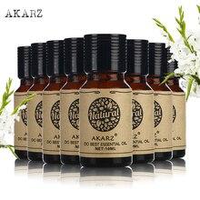 AKARZ value meals Basil Clary Sage Myrrh Patchouli Eucalyptus Lemon Grass Hazelnut Hemp seed essential oil 10ml*8