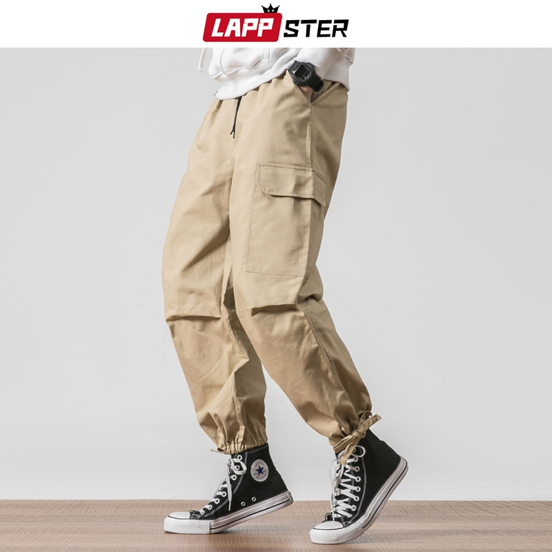 Pantalones Cargo para hombres de LAPPSTER 2020, pantalones para correr a la moda Coreana de Hip Hop, pantalones harén caqui, monos, pantalones de chándal 5XL