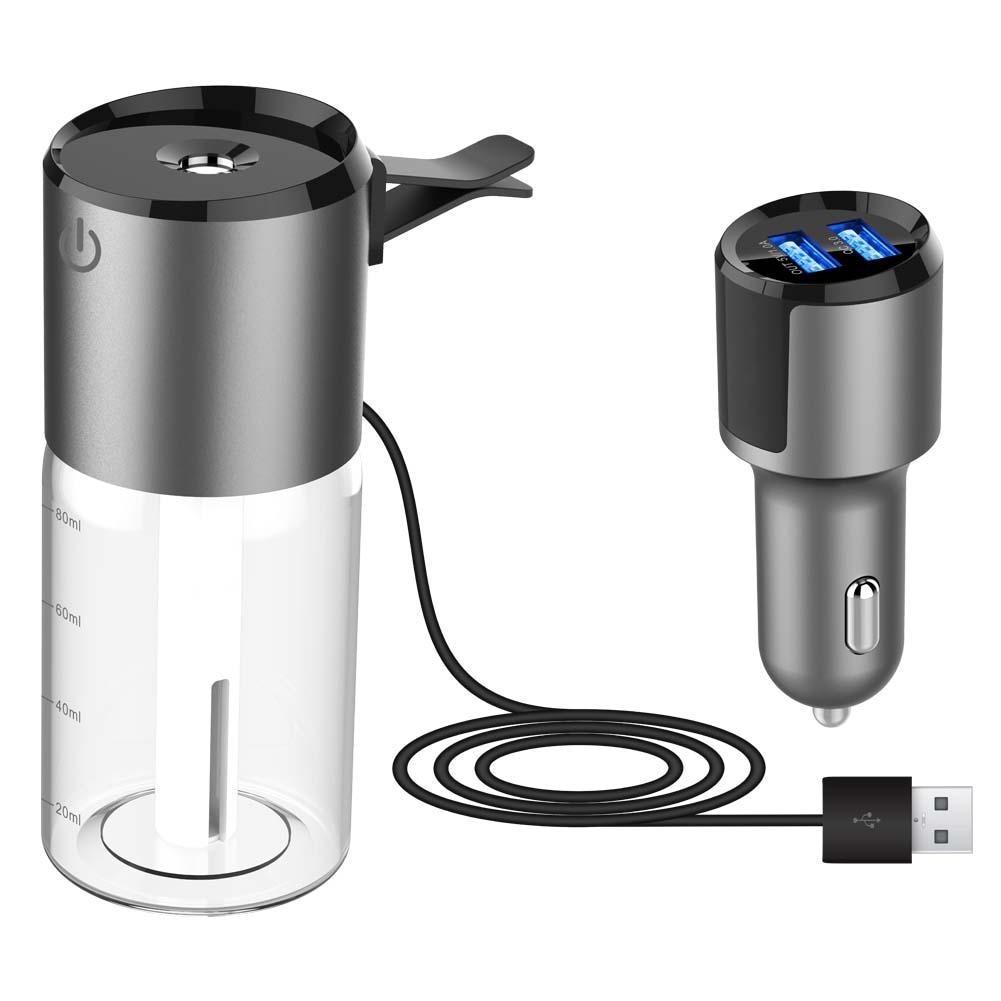 Para BC 35b 2 Generación Mini Usb Spray de aire aromaterapia coche humidificador Dual USB cargador espera para proteger de la calefacción en seco