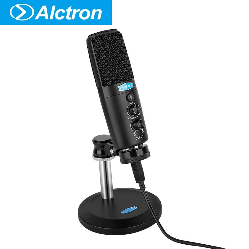 Alctron CU58 desktop condenser microphone used in broadcasting