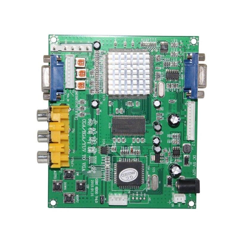 GBS8200/HD9800 RCA в VGA Видео декодирование адаптер конвертер HD конверсионная плата для CRT LCD PDP проектора