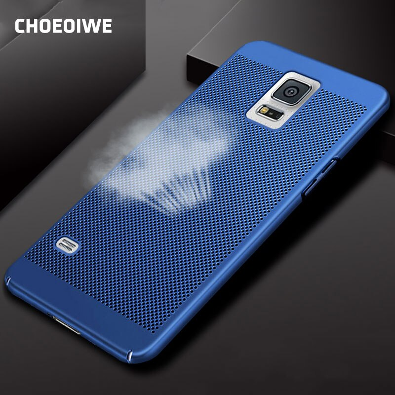 CHOEOIWE, funda antigolpes para Samsung S5 SV i9600 G900 9600, funda de PC mate duro transpirable, funda radiante, carcasa trasera para teléfono