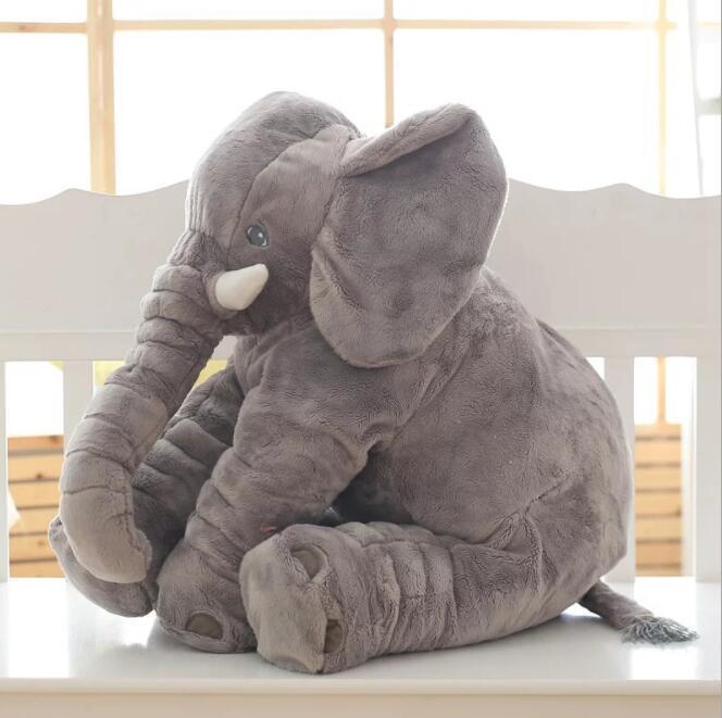 Elefante de peluche infantil de 33/40/60cm, muñeco de peluche suave, juguete tranquilizador para bebé, elefante, almohada de elefante, regalos de navidad