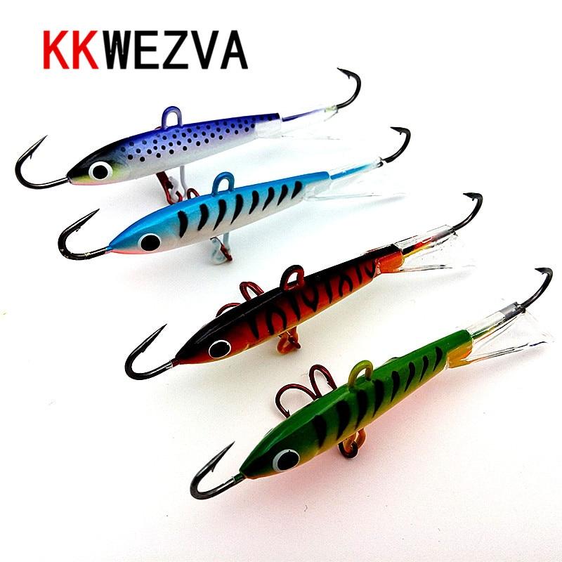KKWEZVA 1pcs 83mm 18g Fishing Lure winter Ice Fishing Hard Bait Minnow Pesca Tackle Isca Artificial Bait Crankbait Swimbait