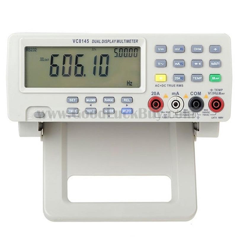 VICI VC8145 Banco Digital superior DMM multímetro medidor de temperatura probador PC analógico 80.000 recuentos barra analógica gráfico w/ 23 segmentos