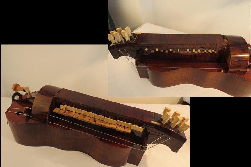 Madera de Arce hecha a mano, 6 cuerdas, 24 llaves, Hurdy Gurdy...