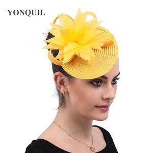 Women Fashion Headwear Fancy Feather Flowe Hair Accessories For Derby Ladies Fascinators Hair For Mesh New Headwear Hair Pins