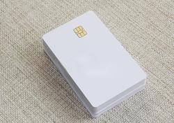 Iso branco branco pvc sle4442 chip plástico contato inteligente card-20pcs