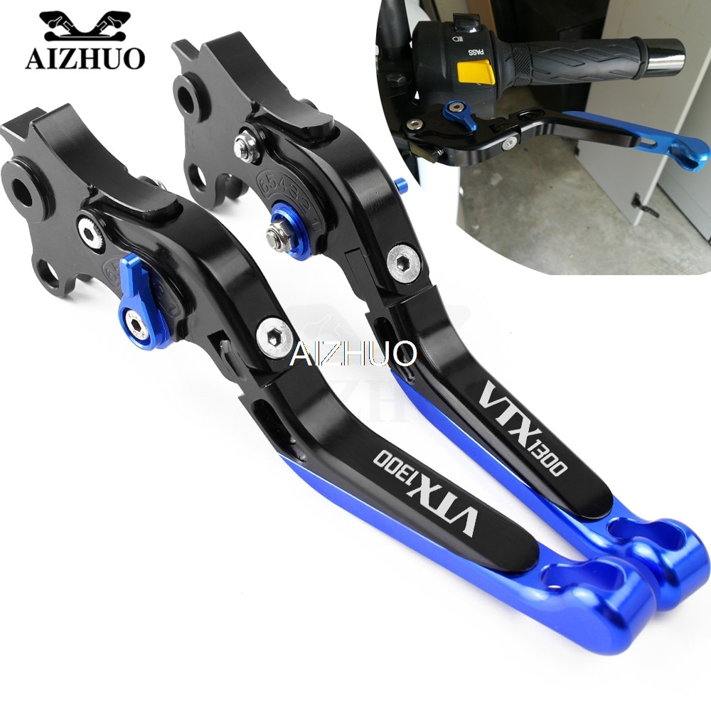 Palanca de embrague de freno de motocicleta de aluminio CNC plegable extensible para HONDA VTX1300 VTX 1300 2003-2008 2004 2005 2006 2007