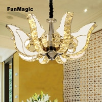 Luxurious K9 Crystal Chandelier LED Ceiling Fixture for Living Room Hotel Decoration Pendant Lamp Dimming Lighting Art Lights