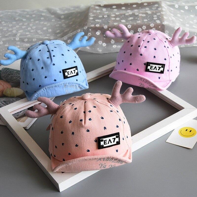 Детские шапки для мальчиков и девочек бейсболка с изображением рогов Весенняя