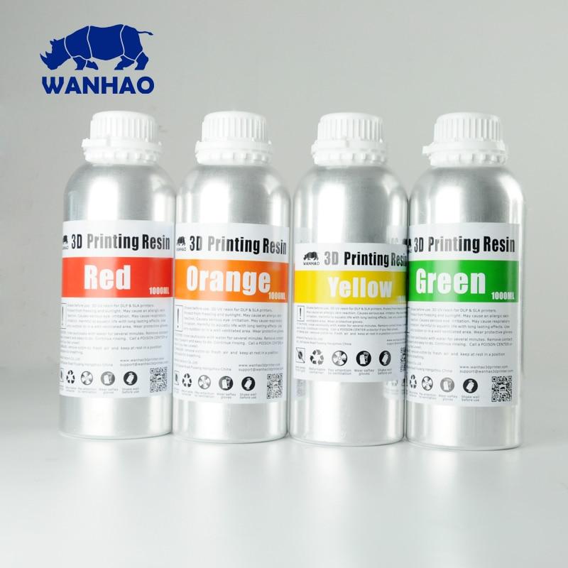 405NM WANHAO UV liquid resin for LCD DLP  SLA 3d printer  , Wanhao Duplicator7  D7 Printing material  , 4bottle of 250ml