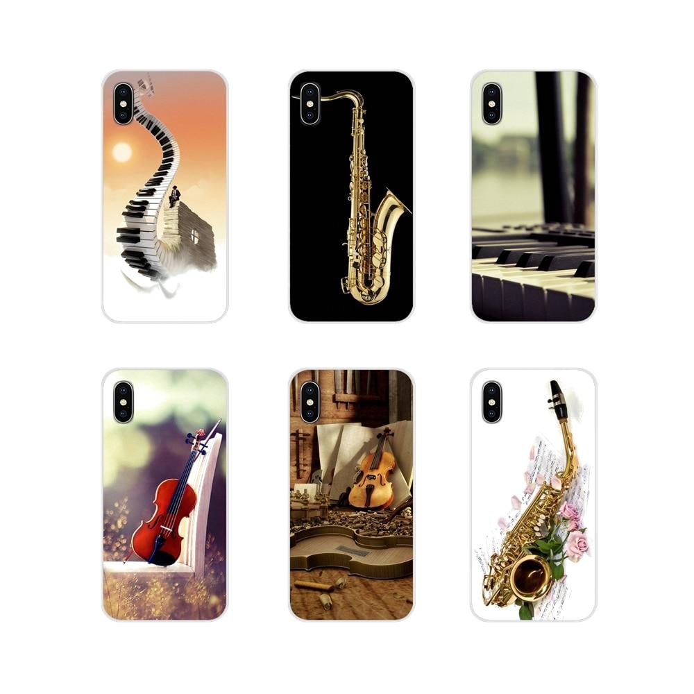 Sassofono violino Pinao per Samsung Galaxy S4 S5 MINI S6 S7 edge S8 S9 S10 Plus nota 3 4 5 8 9 accessori cover per telefono