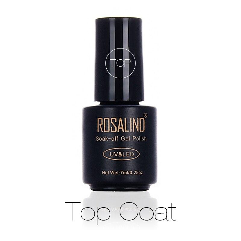 ROSALIND 7ml Top Coat Gel Nail Polish Protect Nails Surface keep Nail Art Desgin Long Lasting Transp
