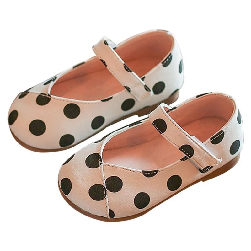 Recién Nacido bebé niña zapatos de cuero de la PU de chico Anti-deslizamiento en los zapatos de 0-18 meses cuna gancho y bucle en primer lugar los caminantes