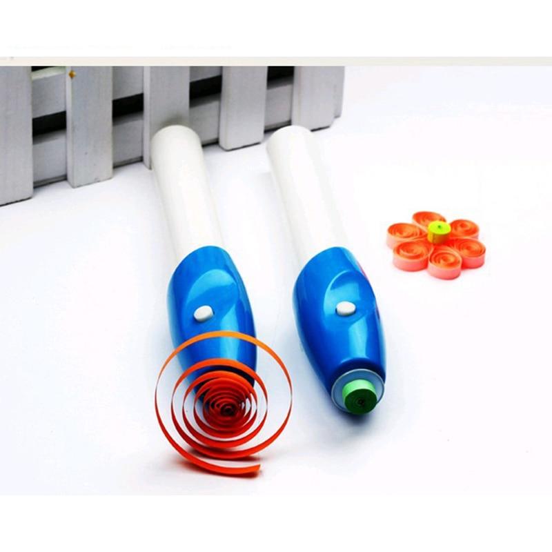 Электрический набор инструментов для квиллинга бумаги, стальная ручка для завивки дома, сада, оригами, ручная работа, инструмент для рукоделия