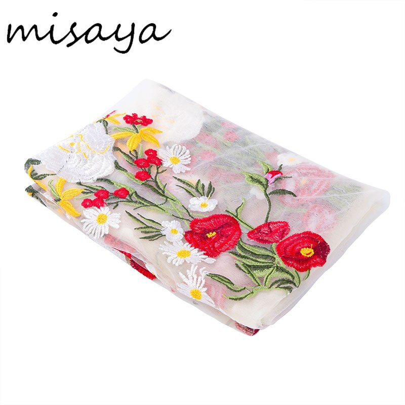 Misaya 1 yarda Rosa Flor de alta calidad de encaje de tela álbum de recortes de boda decoración adorno manualidad para vestido ropa tejido de costura Trim