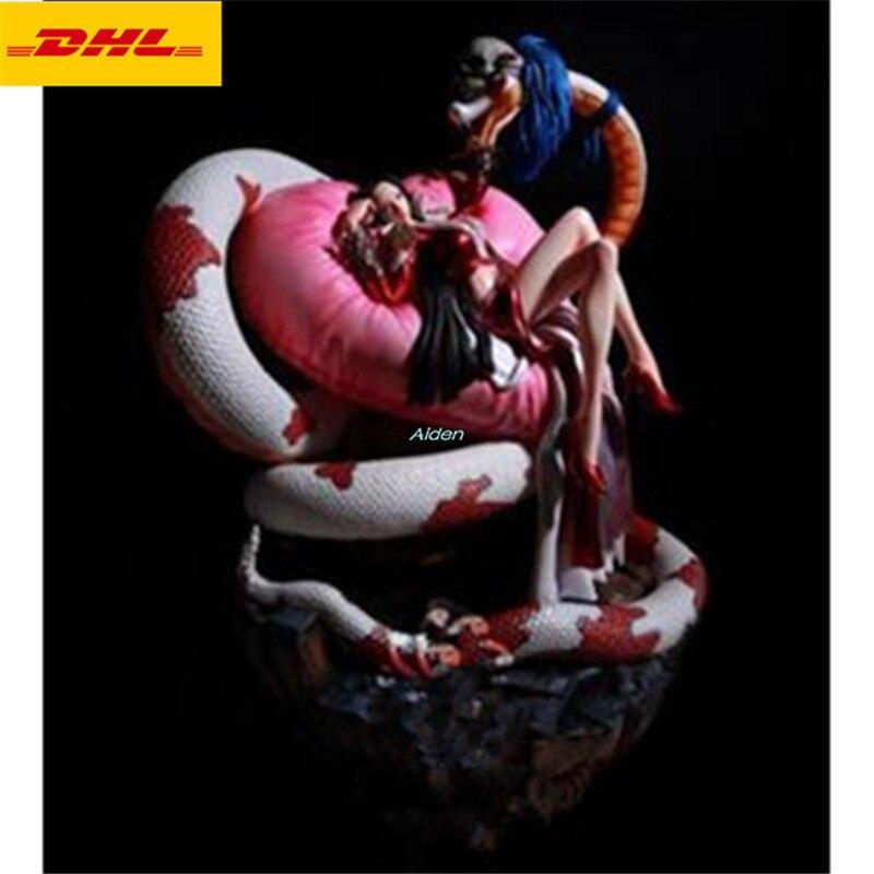 Figura Sexy de Anime de 16 pulgadas estatua de busto de una pieza Boa Hancock retrato de longitud completa la serpiente Ji GK figura de acción caja de juguete 40CM B1517