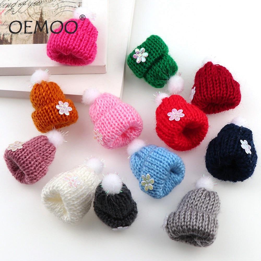 10pcs  Felt  Christmas hat Balls  Multicolors Flocking Ball Wool Balls For Diy 30*45mm  Garland Home Decoration Wool Ball F
