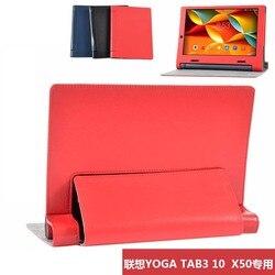 "Ultra Slim Litchi Completa Protector Folio Stand Case Capa Couro Para lenovo yoga tab 3 tab3 x50 x50m x50l yt3-x50f 10.1 ""Tablet"