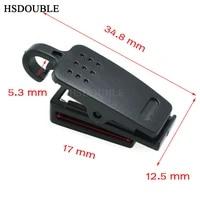 1000pcspack plastic id card name tag holder badge clip black for cord strap
