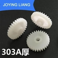 303a thick gears modular 0 5 hole 3mm tight 30 tooth 16mm diameter plastic gear disc toy accessories 10pcslot