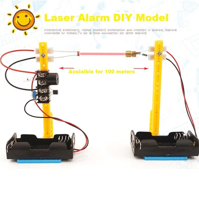DIY 幹赤外線警報おもちゃ ultrared 光線アラームモデル子供理学科学学習支援教育玩具キッズギフト