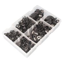 Hoge Kwaliteit Diverse Doos Van Zwart Nylon Plastic P Clips - 200 Stuks