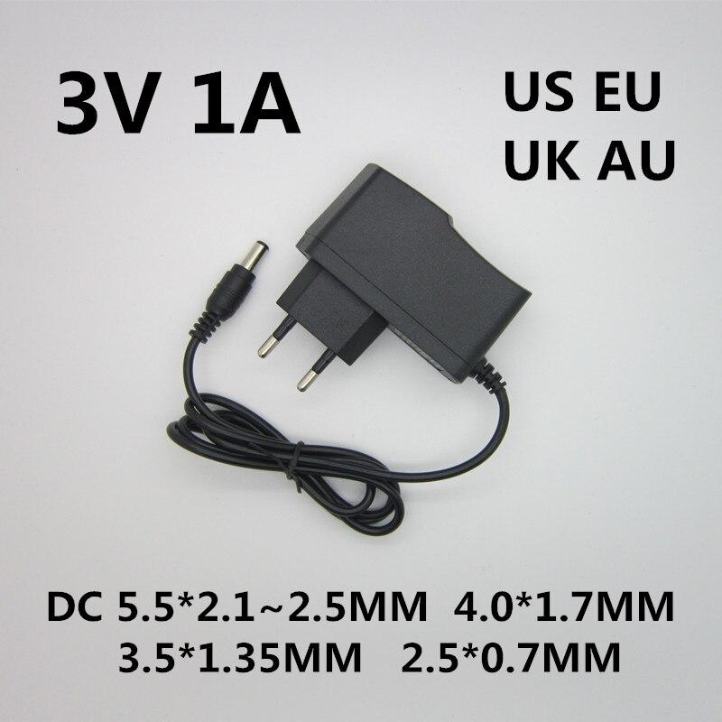 1 шт. Лучшее качество AC/DC конвертер адаптер зарядное устройство источник питания DC 3V 1A 1000ma AC 100-240V адаптер питания штепсельная вилка ЕС