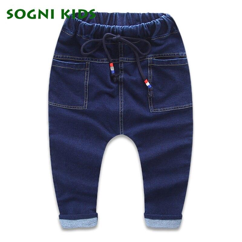 Baby Girls Boys Jeans For New Year Spring Autumn Long Demin Infantil legging Pants Children Cotton TrouserFashion Kids Clothes